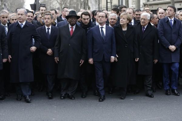 LA photo sur laquelle il fallait donc être et publiée dans Paris Match - © Reuters