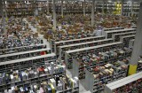 A general view shows packages at the Amazon warehouse in Leipzig, December 3, 2008. The shelves at the company's warehouse become full during the busiest time of the year before Christmas. REUTERS/Fabrizio Bensch (GERMANY) - RTR227MR