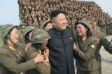 North Korean leader Kim Jong Un is seen as he guides the multiple-rocket launching drill of women's sub-units under KPA Unit 851, in this undated photo released by North Korea's Korean Central News Agency (KCNA) April 24, 2014. REUTERS/KCNA (NORTH KOREA - Tags: POLITICS MILITARY) ATTENTION EDITORS - THIS PICTURE WAS PROVIDED BY A THIRD PARTY. REUTERS IS UNABLE TO INDEPENDENTLY VERIFY THE AUTHENTICITY, CONTENT, LOCATION OR DATE OF THIS IMAGE. FOR EDITORIAL USE ONLY. NOT FOR SALE FOR MARKETING OR ADVERTISING CAMPAIGNS. THIS PICTURE IS DISTRIBUTED EXACTLY AS RECEIVED BY REUTERS, AS A SERVICE TO CLIENTS. NO THIRD PARTY SALES. NOT FOR USE BY REUTERS THIRD PARTY DISTRIBUTORS. SOUTH KOREA OUT. NO COMMERCIAL OR EDITORIAL SALES IN SOUTH KOREA