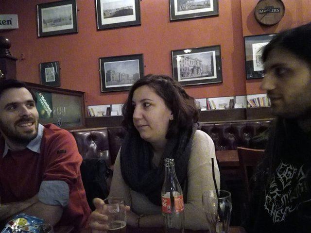 De gauche à droite, Hugues, Christine et Gugli.