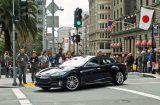 Tesla Model S electric car at Union Square, San Francisco